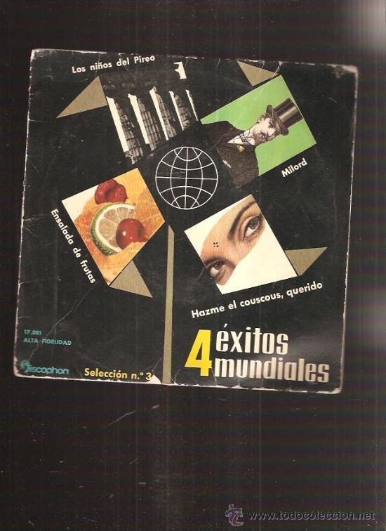 4 EXITOS MUNDIALES (Música - Discos - Singles Vinilo - Grupos Españoles 50 y 60)