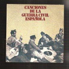 Discos de vinilo: CANCIONES GUERRA CIVIL. Lote 114770503