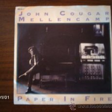 Discos de vinilo: JOHN COUGAR MELLENCAMP - PAPER IN FIRE + NEVER TOO OLD. Lote 37911909