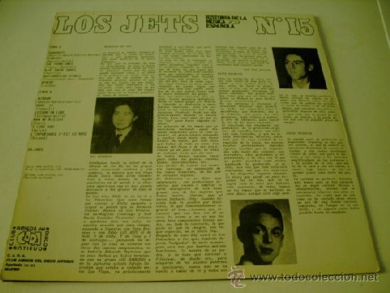 Discos de vinilo: LOS JETS HISTORIA DE LA MUSICA POP ESPAÑOLA Nº 15 - Foto 2 - 37894284
