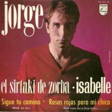 Discos de vinilo: JORGE EP SELLO PHILIPS AÑO 1965 EDITADO EN ESPAÑA. Lote 37901508