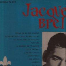 Discos de vinilo: LP-JACQUES BREL COLUMBIA 205-CANADA-195??. Lote 37903815