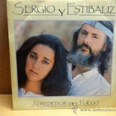 Discos de vinilo: SERGIO Y ESTÍBALIZ. ALREDEDOR DEL FUEGO. SINGLE CBS 1987. IMPECABLE.****/****. Lote 37914259
