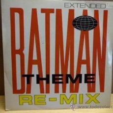 Discos de vinilo: BATMAN THEME RE-MIX. SINGLE BAM CARUSO ( ENGLAND ) 1988. IMPECABLE. ****/****. Lote 37941617