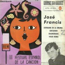 Discos de vinilo: JOSE FRANCIS EP SELLO RCA EDITADO EN ESPAÑA AÑO 1961. Lote 37913427