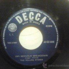 Discos de vinilo: THE ROLLING STONES -19TH NERVOUS BREAKDOWN - AS TEARS GO BY - GRIEGO 7