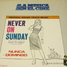 Discos de vinilo: BSO - NEVER ON SUNDAY / MANOS HADJIDAKI - LP - LIBERTY1983SPAIN - LA MUSICA EN EL CINE N 51 - N MINT. Lote 37935253