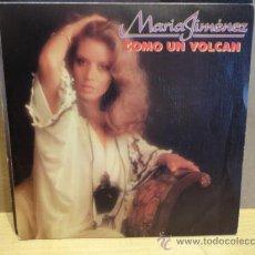 Discos de vinilo: MARÍA JIMÉNEZ. COMO UN VOLCÁN. SINGLE PROMO MOVIE PLAY 1983. IMPECABLE. ****/****. Lote 37959112