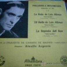 Discos de vinilo: ATAULFO ARGENTA....EP 3 TEMAS...LA LEYENDA DEL BESO + LA BODA Y EL BAILE DE LUIS ALONSO. Lote 37973491