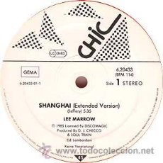 Discos de vinilo: LEE MARROW ?– SHANGHAI MAXI VINILO VERDE. ITALO DISCO.. Lote 37978047