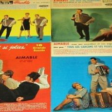 LOTE 4 LP AIMABLE ORCHESTRE - DISQUES VOGUE FRANCE - VER FOTOS