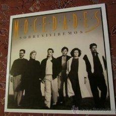 Discos de vinilo: LP DE VINILO DE MOCEDADES- TITULO SOBREVIVIREMOS- ORIGINAL DEL 87- Y ES ¡¡¡¡NUEVO A ESTRENAR¡¡¡¡. Lote 37987225