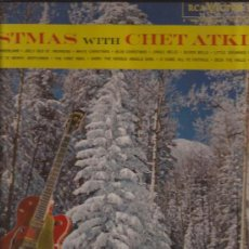 Discos de vinilo: LP-CHET ATKINS CHRISTMAS WITH...-RCA 2423-USA-1961-COUNTRY-NAVIDAD. Lote 38010252