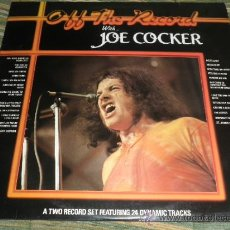 Discos de vinilo: JOE COCKER - OFF THE RECORD DOBLE LP - EDICION INGLESA - SIERRA RECORDS 1984 -. Lote 38016338
