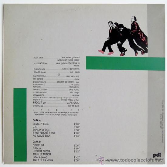Discos de vinilo: LA MADAM - SENSE PRESSA - LP SPAIN 1987 - PDI – 30.1253 - Foto 2 - 38021224
