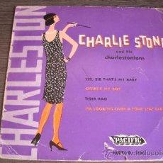 Discos de vinilo: CHARLIE STONE AND HIS CHARLESTONIONS - CHARLESTON - SINGLE VINILO. Lote 38316517