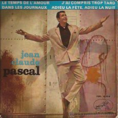 Discos de vinilo: EP-JEAN CLAUDE PASCAL VOZ DE SU AMO 13914-ESPAÑA 1963. Lote 38038260