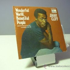 Discos de vinilo: JIMMY CLIFF WONDERFUL WORLD, BEAUTIFUL PEOPLE HARD RODAD TO TRAVEL SINGLE. Lote 38044853