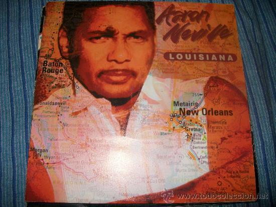 EP - AARON NEVILLE - LOUISIANA / HOUSE ON A HILL (Música - Discos de Vinilo - EPs - Pop - Rock - New Wave Internacional de los 80)