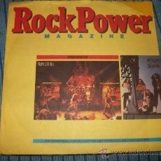 Discos de vinilo: EP - ROCK POWER MAGAZINE - SEPULTURA / ATOM SEDD - FLEXI EP. Lote 38045150