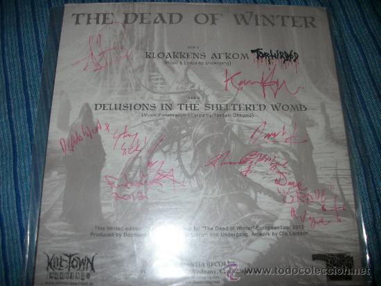 Discos de vinilo: EP - FUNEBRARUM / UNDERGANG - THE DEAD OF WINTER TOUR - EDICION LIMITADA - FIRMADO - Foto 2 - 38045171