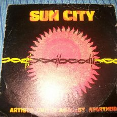 Discos de vinilo: EP - ARTIST UNITED AGAINST APARTHEID - SUN CITY / NOT SO FAR AWAY. Lote 38046472