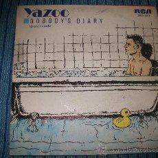 Discos de vinilo: PROMO EP - YAZOO - NOBODY'S DIARY. Lote 38049330