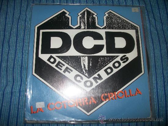 EP - DEF CON DOS - LA COTORRA CRIOLLA (Música - Discos de Vinilo - EPs - Rap / Hip Hop)