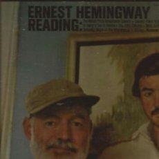 Discos de vinilo: LP-ERNEST HEMINGWAY READING-CAEDMON 1185-USA 1965-RECITADO-PORTADA ABIERTA. Lote 38054639
