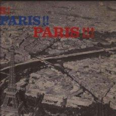 Discos de vinilo: LP-JOSEPHINE BAKER PARIS PARIS PARIS-RCA 530011-FRANCE 1963. Lote 38055226