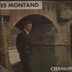 Discos de vinilo: LP-YVES MONTAND CHANSONS DE PARIS-ODEON 148-FRANCE 195??. Lote 38055347