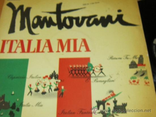 Discos de vinilo: MANTOVANI Y SU ORQUESTA - ITALIA MIA - LP - DECCA 1961 SPAIN - Foto 2 - 38051353