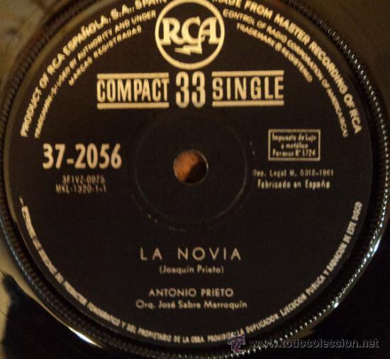 Discos de vinilo: Antonio Prieto - La Novia - Edición de 1961 de España - Foto 2 - 38181597