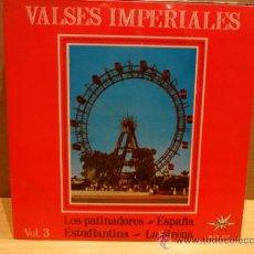 Discos de vinilo: VALSES IMPERIALES. VOL 3. EP MARFER 1965. EXCELENTE. ****/****. Lote 38070646