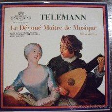 Discos de vinilo: G.P. TELEMANN, LE DÉVOUÉ MAÎTRE DE MUSIQUE, AIRS D'OPÉRAS. Lote 38087611