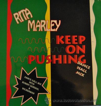 "RITA MARLEY - KEEP ON PUSHING - DANCE HALL MIX - R@RE VINYL 12"" MAXI SINGLE 45 (Música - Discos de Vinilo - Maxi Singles - Reggae - Ska)"