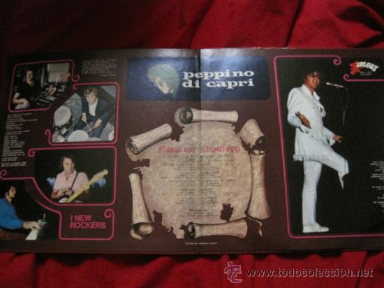 Discos de vinilo: LP-PEPPINO DI CAPRI I NEW ROCKERS NAPOLI IERI NAPOLI OGGI-SPLAS 701-ITALIA 1971-PORTADA ABIERTA - Foto 2 - 38103019