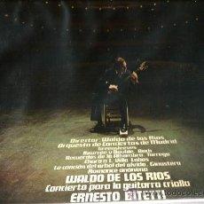 Discos de vinilo: LP WALDO DE LOS RIOS & ERNESTO BITETTI : CONCIERTO PARA GUITARRA CRIOLLA . Lote 38126891