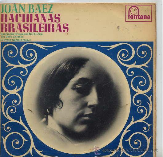 JOAN BAEZ / BACHIANAS BRASILEIRAS Nº 5 / NU BELLO CARDILLO / EL PRESO Nº 9 (EP ORIGINAL INGLES MONO) (Música - Discos de Vinilo - EPs - Country y Folk)