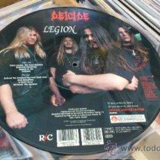 Discos de vinilo: DEICIDE LEGION PICTURE LP FOTODISCO MUY RARO ED LIMITADA TRASH DEATH METAL. Lote 38168586