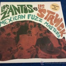 Discos de vinilo: LOS ZANTOS VS LOS STRWCK - MEXICAN FUZZ MASTERS ( LP 2011 ) PSYCH,GARAGE. Lote 216573353
