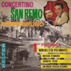 Discos de vinilo: EP-TORREBRUNO CONCERTINO EN SAN REMO-BELTER 51342-1964. Lote 38173592