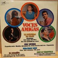 Discos de vinilo: FLAMENCO. VOCES AMIGAS. LP EKIPO 1973. MUY BUENA CALIDAD. ***/***. Lote 38185154