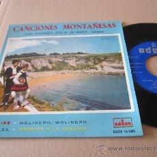 Discos de vinilo: CANCIONES MONTAÑESAS EP CORO POLIFONICO JOSE Mª PEREDA ESPAÑA 1958. Lote 38185098