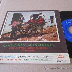 Discos de vinilo: CANCIONES MONTAÑESAS EP CORO DE SNIACE RONDA GARCILASO ESPAÑA 1958. Lote 38185122