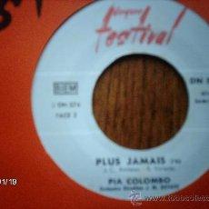 Discos de vinilo: PIA COLOMBO - CHANSON POUR MARILYN + PLUS JAMAIS . Lote 38196490