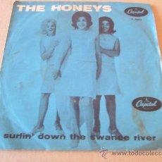 Discos de vinilo: THE HONEYS SINGLE SURFIN` DOWN THE SWANEE RIVER CAPITOL ESCANDINAVIA. Lote 38188612