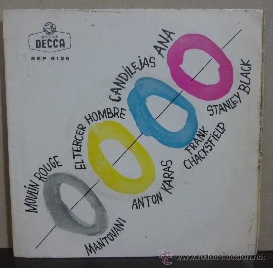 MANTOVANI / ANTON KARAS / FRANZ CHACKSFIELD / STANLEY BLACK - EP DECCA 1961 - (Música - Discos de Vinilo - EPs - Orquestas)