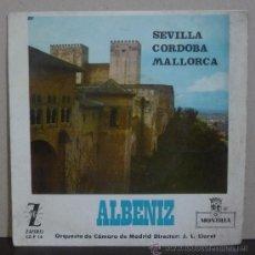 Discos de vinilo: ALBÉNIZ - SEVILLA / CÓRDOBA / MALLORCA - EP MONTILLA 1964 - SC1. Lote 38191482