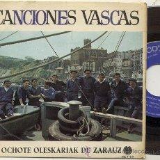 Discos de vinilo: EP 45 RPM / OCHOTE OLESKARIAK ZARAUZ / EUSKERA OI EUSKERA // EDITADO POR PAX 1967. Lote 38203612